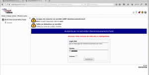 Login do php Ldap Admin